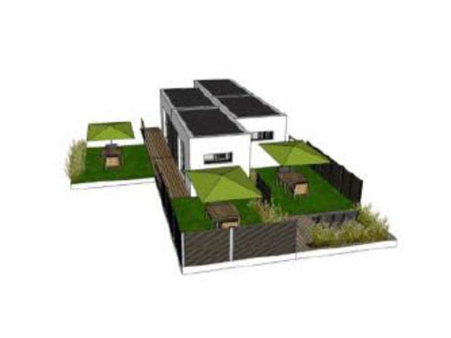 Habitat modulaire pour seniors 4 modules de 21 m for Habitat modulaire