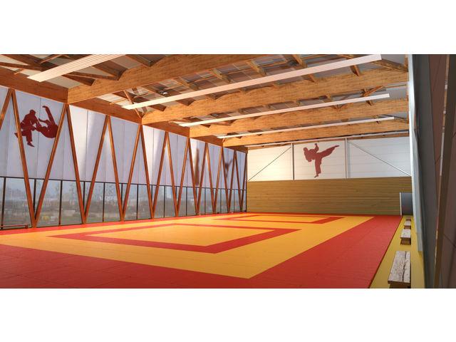 Halle de sports construction traditionnelle contact for Construction traditionnelle