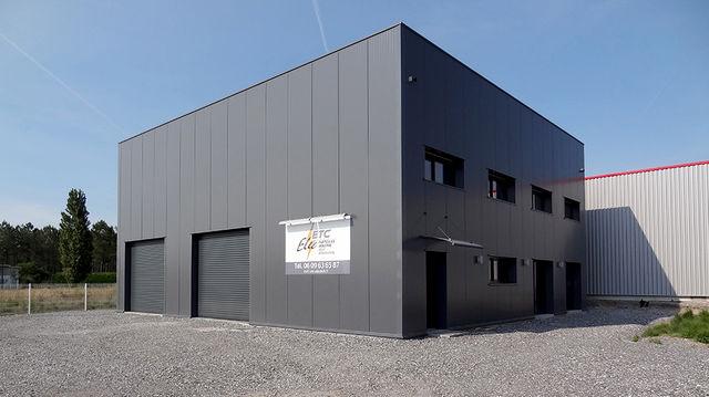 Hangar structure metallique de stockage contact for Photo batiment