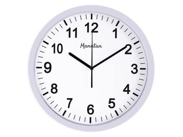 Horloge Murale A Quartz Manutan Contact Manutan