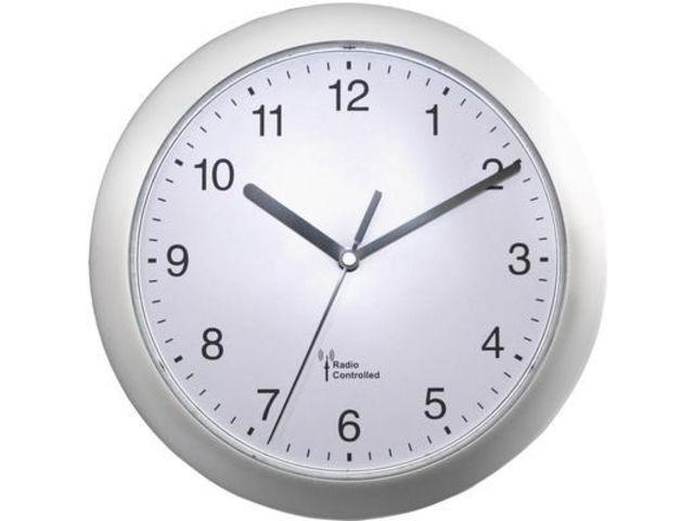 horloge murale radiopilot e 56787 argent 25 cm x 3 8 cm contact conrad france. Black Bedroom Furniture Sets. Home Design Ideas