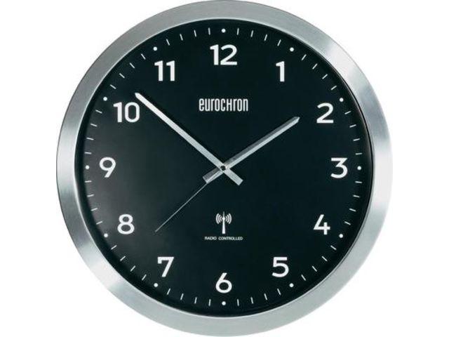 horloge murale radiopilot e eurochron efwu 2601 aluminium bross 38 cm x 48 mm contact. Black Bedroom Furniture Sets. Home Design Ideas