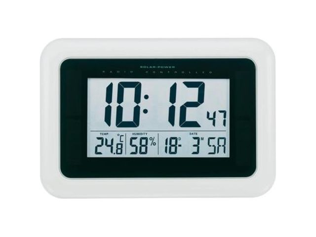 Horloge murale radiopiloté(e) KW9101 blanc 280 mm x 190 mm x 23 mm ...