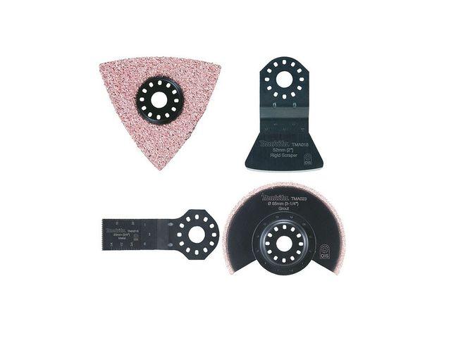 Jeu de 4 accessoires carrelage pour outils multifonctions for Outil multifonction coupe carrelage