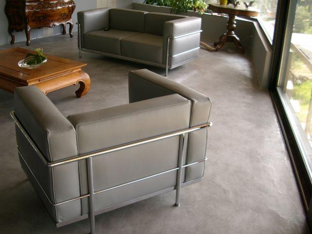 Kit b ton cir sols murs pour cuisine salle de bain - Mur beton cire salon ...