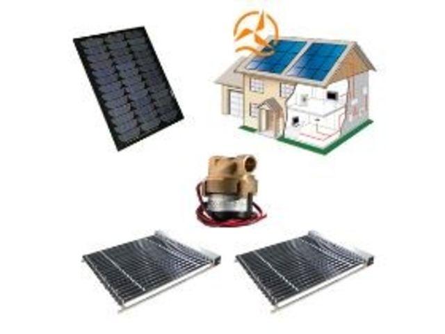 Kit complet capteur solaire tubes sous vide avec for Panneau solaire sous vide