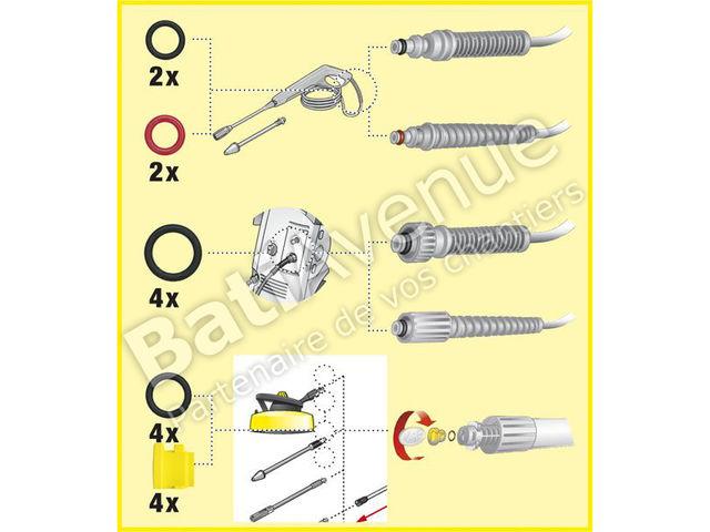 kit de joints toriques de rechange 26407290 karcher contact bati avenue. Black Bedroom Furniture Sets. Home Design Ideas