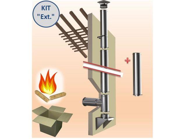 Kit ext rieur modulable tubage isol pellet l 3 m tres for Tubage exterieur