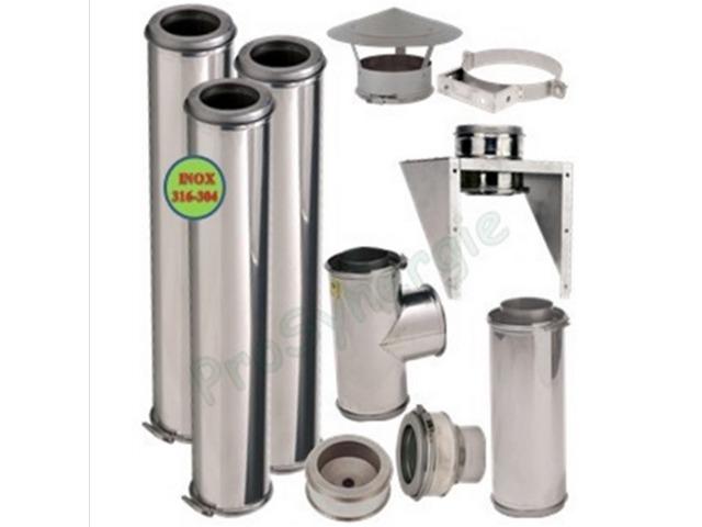 Kit ext rieur modulable tubage isol pour conduit de fum e for Tubage exterieur
