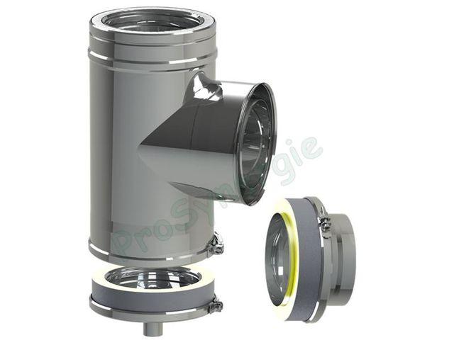 Kit Exterieur Modulable Tubage Isole Pour Conduit De Fumee Pour