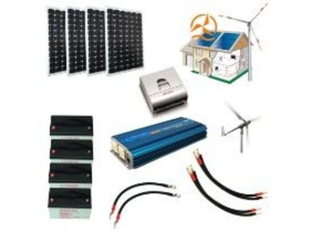 kit hybride complet solaire et olien 2 500 5 000 wh haute puissance contact energie douce. Black Bedroom Furniture Sets. Home Design Ideas