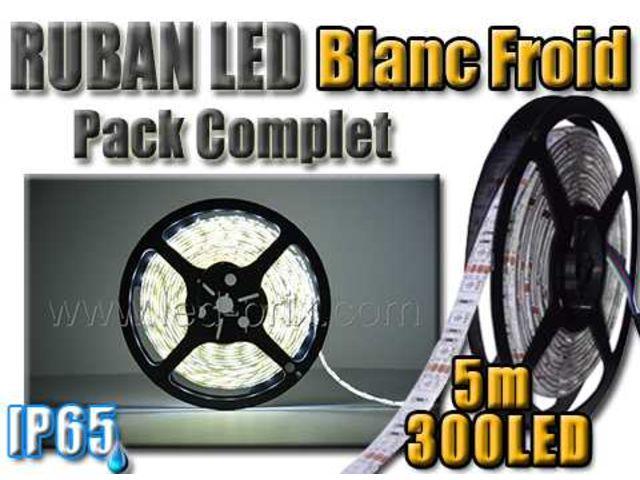 kit led complet ruban led blanc froid 5m 300 led contact sarl led prix com. Black Bedroom Furniture Sets. Home Design Ideas