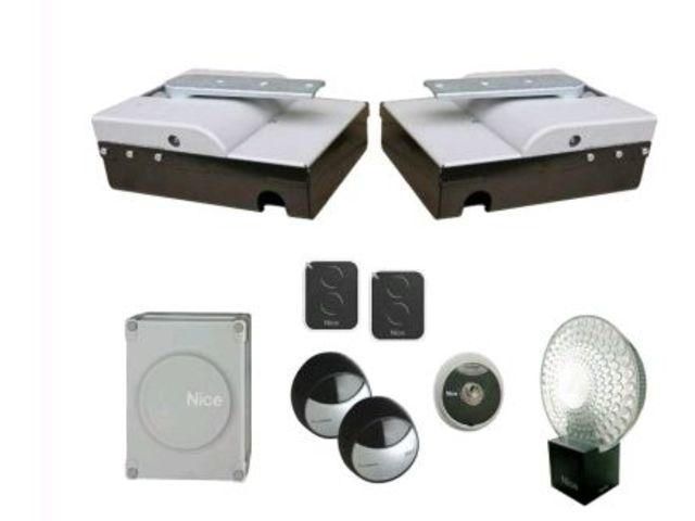 kit semi encastr 2 vantaux nice pour motorisation portail enterr e 24v xmetro2124kce. Black Bedroom Furniture Sets. Home Design Ideas