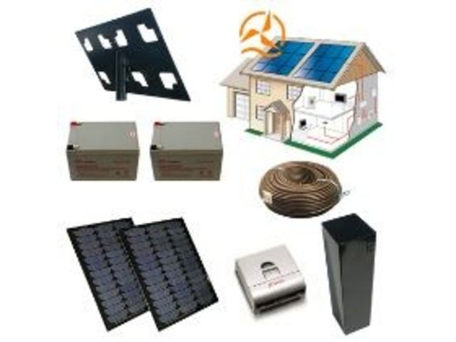 kit solaire complet alimentation portail lectrique 12 24 volts 24 watts contact energie douce. Black Bedroom Furniture Sets. Home Design Ideas