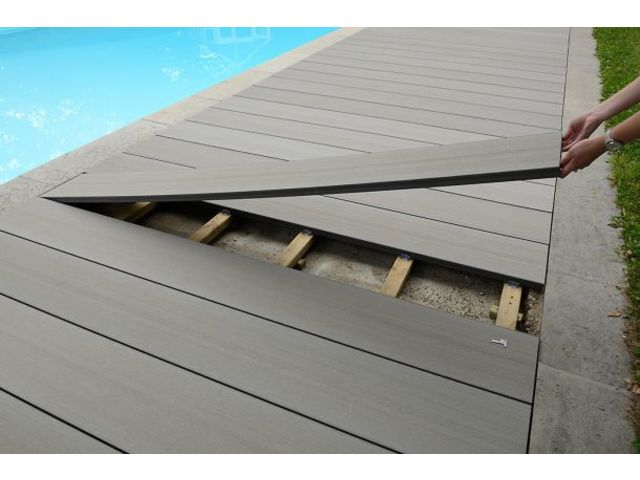 Lame de terrasse en bois composite charge lourde contact abri and co - Lames composite terrasse ...