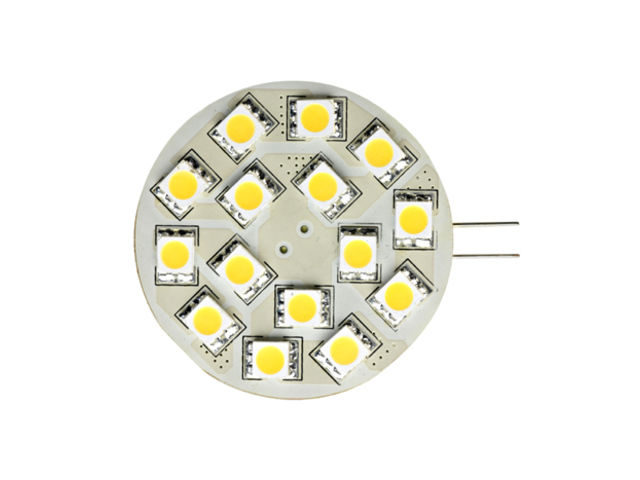 Lampe 15 LED SMD Vert icale 1W Culot G4 Blanc chaud ARIC2566_SBF