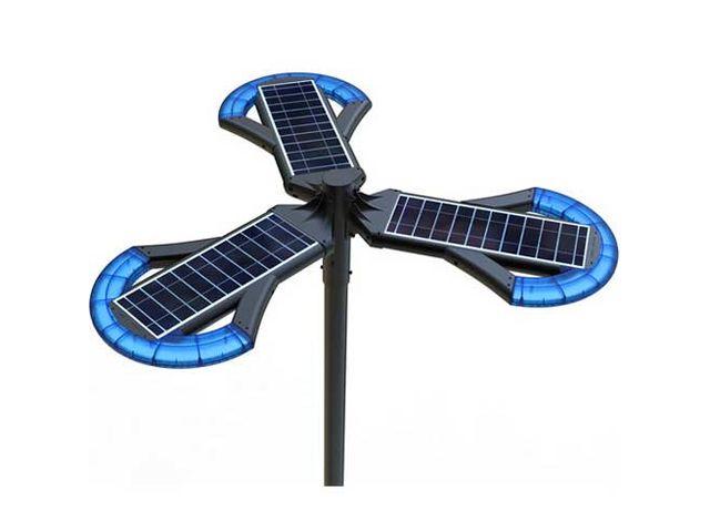 lampadaire autonome led solaire 12w 3x 400lm sans m t ip65 contact france lampes. Black Bedroom Furniture Sets. Home Design Ideas
