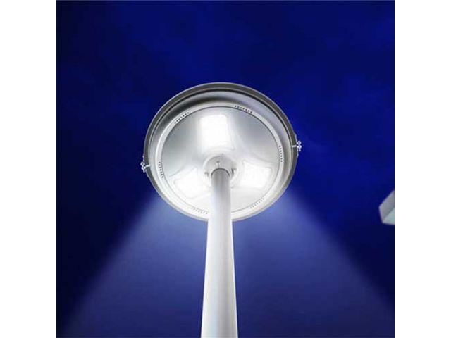 lampadaire autonome led solaire jua15 15w 1500lm rond sans m t ip65 contact france lampes. Black Bedroom Furniture Sets. Home Design Ideas