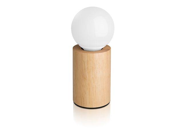 Lampe A Poser Ronde En Bois Temperature De Couleur Variable Led