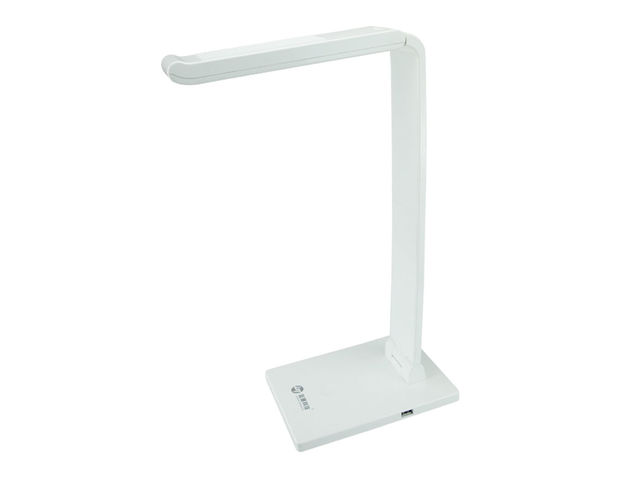 Lampe de bureau led avec tête inclinable w blanc contact