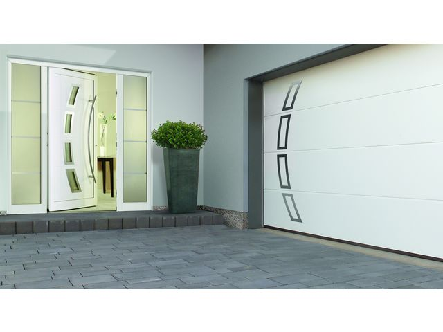 Les portes de garage et portes d entr e assorties - Hormann porte d entree ...