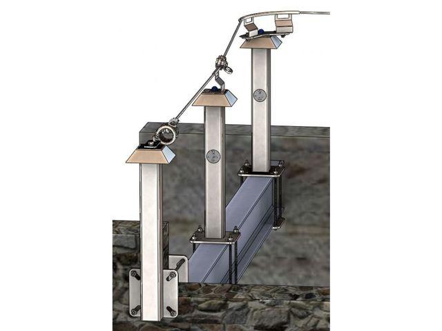 Ligne de vie à brider ou à crapauter pour charpente métallique et bois  Cont