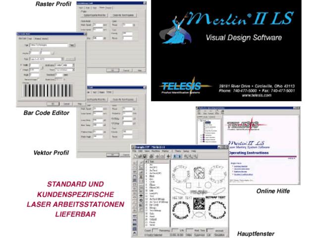 logiciel de marquage merlin ii laser contact telesis