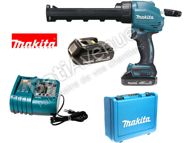 makita pistolet mastic batterie li ion 18 v 1 3 ah bcg80rhe contact bati avenue. Black Bedroom Furniture Sets. Home Design Ideas