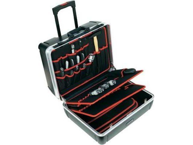 mallette outils rigide avec roulettes dimensions l x l x h 505 x 440 x 280 mm toolcraft. Black Bedroom Furniture Sets. Home Design Ideas