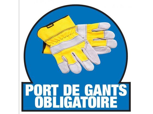 Marquage port de gants obligatoire sol contact roll co - Port de couche obligatoire ...