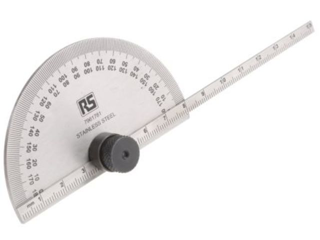 Metric Depth Gauge Protractor,0-150mm