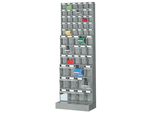 Meuble avec 57 blocs tiroir plastique cadre support et for Meuble tiroir plastique