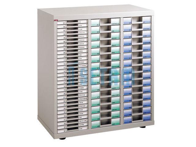 Meuble classement plat avec 60 casiers tiroirs contact for Meuble classement tiroir