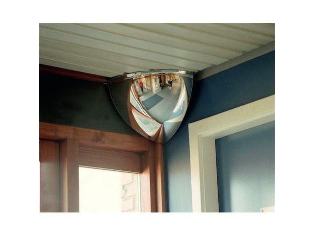 miroir de s curit d 39 angle 1 8 de sph re vision 90 contact manutan. Black Bedroom Furniture Sets. Home Design Ideas