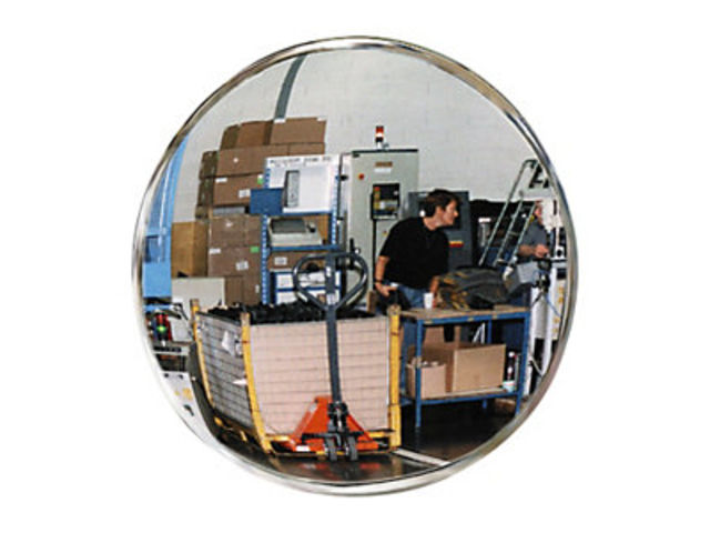 Miroir de s curit int rieur rond polymir contact raja for Miroir usine