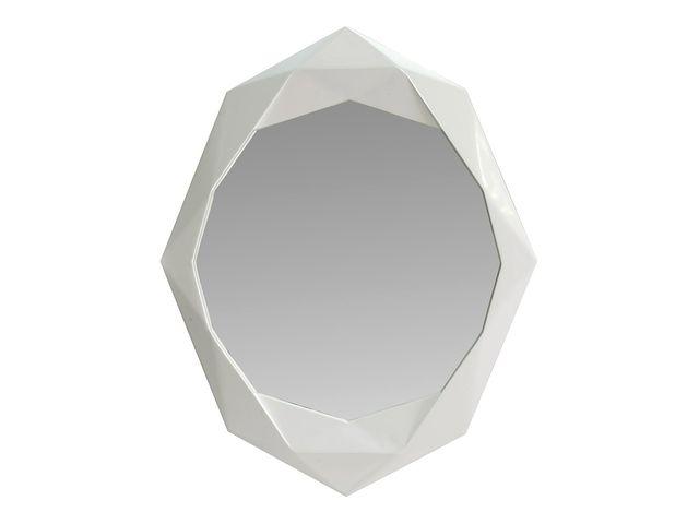 miroir natura en bois blanc laqu contact sodezign com. Black Bedroom Furniture Sets. Home Design Ideas