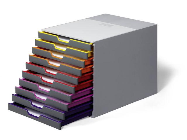 Module de classement varicolor 10 contact durable for Classement papier bureau