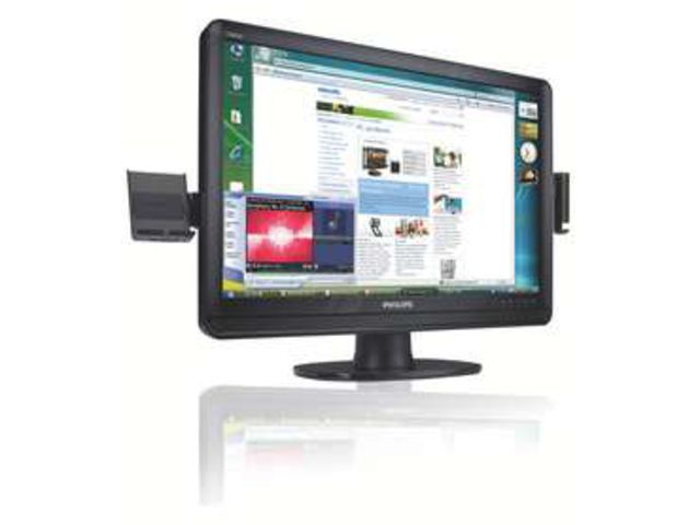 moniteur lcd cran large 22 contact philips. Black Bedroom Furniture Sets. Home Design Ideas
