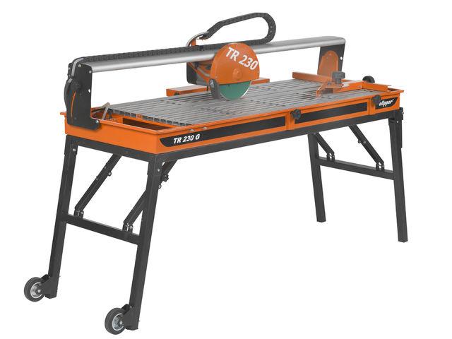 Norton clipper tr231 gl scie de carrelage sur rail for Coupe plinthe carrelage a 45