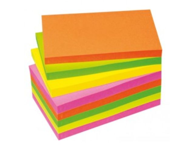 Notes Repositionnables First  assortis vives 76 x 127 Lot de 12