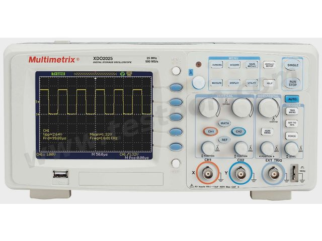 Oscilloscope Multimetrix XDO2025