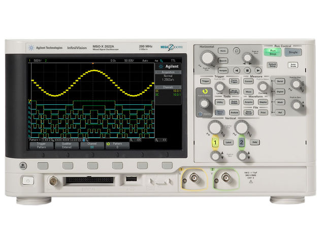 Oscilloscope numérique  2 voies 200 MHz, 1 Géch/s, 100 000 points_DISTRAME