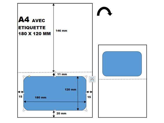 Pack De 10 Planches A4 Avec Etiquette Colissimo Contact Univers Graphique