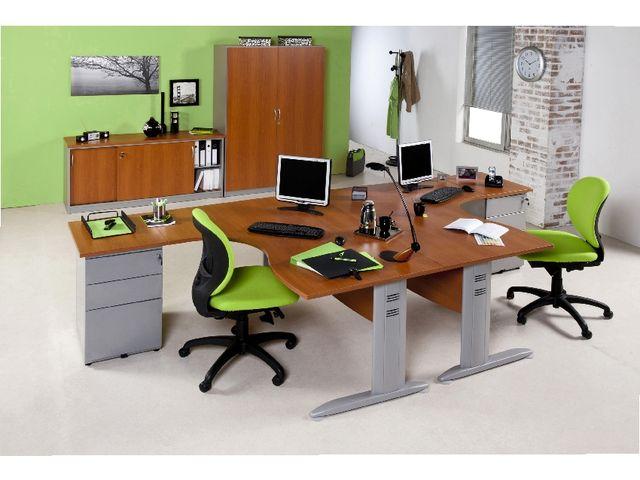 pack eco azari bureau asym trique pieds l caisson hauteur bureau contact manutan. Black Bedroom Furniture Sets. Home Design Ideas