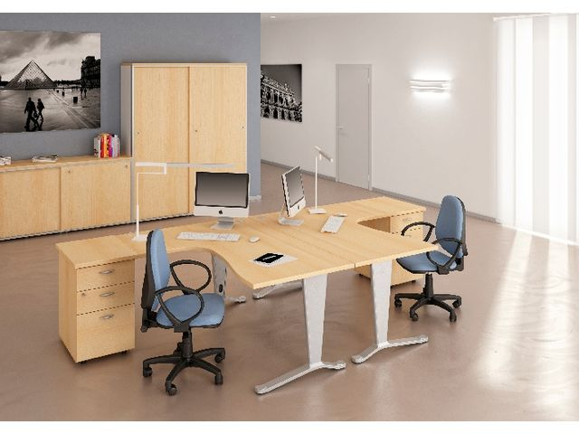 Pack eco epsilon 1 bureau asym trique 1 caisson for Eco bureau