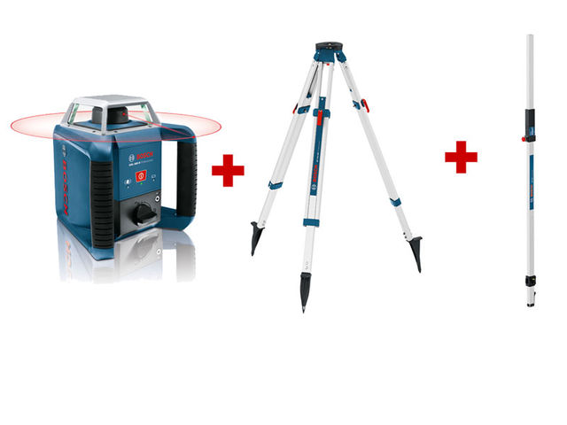 Pack ext rieur laser rotatif grl 400 h tr pied bt 170 for Location niveau laser exterieur