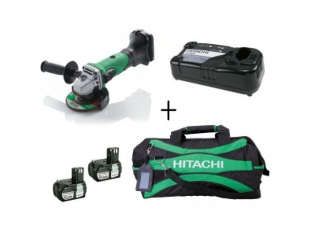 Pack g18dl hitachi meuleuse 115mm 18v li ion 2 batteries chargeur sac contact race tools - Meuleuse a batterie ...