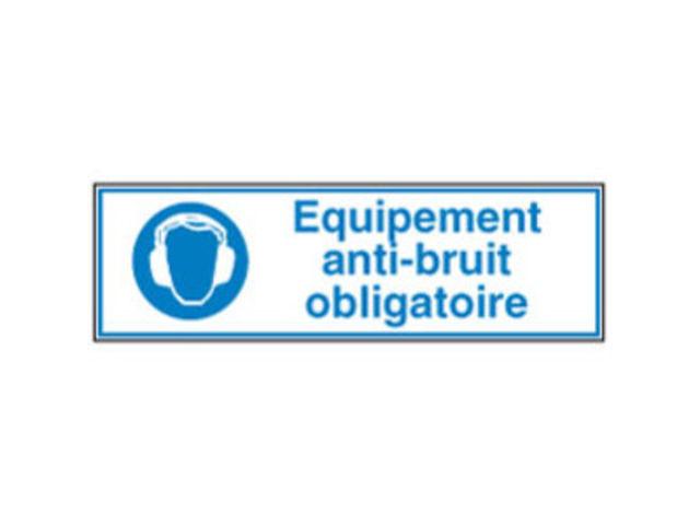 Panneau avec symbole et texte obligation quipement anti for Panneau anti bruit exterieur