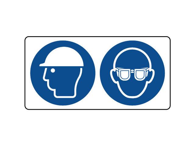 Panneau casque sécurité et lunettes protection obligatoire   Contact ... cea98a2ae65f