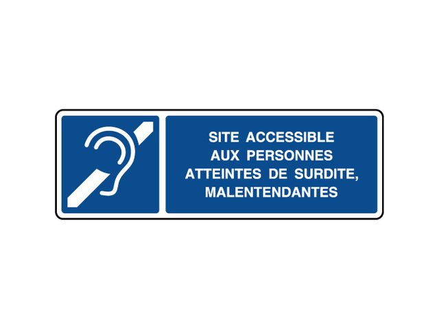 Panneau d'information horizontal accessible malentendants